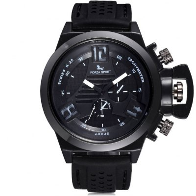 Гаджет   FORZA SPORT 2497 Men Japan Movt Quartz Watch with Silicone Strap Men