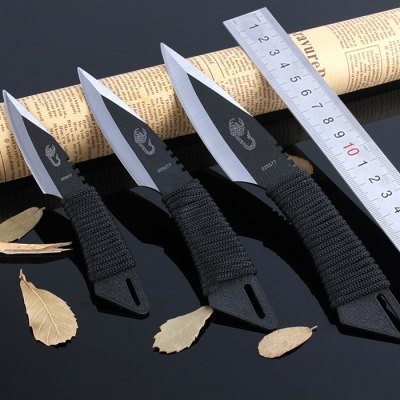 3pcs Tactical Straight Knife for Outdoor Adventures