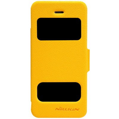 ФОТО Nillkin Dual View Window Design Phone Protective Cover Case with PU and Plastic Material for iPhone 5 5S