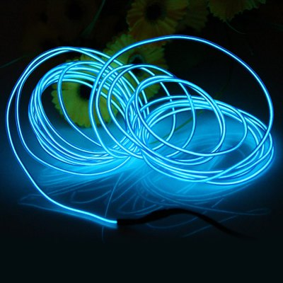 4M Flexible EL WireLED Strips<br>4M Flexible EL Wire<br><br>Features: Cuttable,Low Power Consumption<br>Length: 4m<br>Optional Light Color: Pink,White,Red,Blue,Green,Purple,Orange,Yellow,Transparent Blue,Fluorescent Green<br>Input Voltage: DC 3.6-4.5<br>Product weight: 0.030 kg<br>Package weight: 0.08 kg<br>Product size (L x W x H): 8 x 8 x 3 cm / 3.14 x 3.14 x 1.18 inches<br>Package size (L x W x H): 9 x 9 x 5 cm / 3.54 x 3.54 x 1.97 inches<br>Package Contents: 1 x EL Wire, 1 x Battery Case