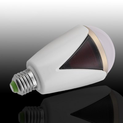 Hlight H1007 E27 / E26 Bulb Smart SpeakerSmart Lighting<br>Hlight H1007 E27 / E26 Bulb Smart Speaker<br><br>Brand: Hlight<br>Material: ABS / PC<br>Base Type: E26/E27<br>Operating system: Android 4.3 or above and iOS 4.0 or above<br>Power: 5W<br>Lumen: 330Lm<br>Color Temperature: 6500K<br>Bluetooth version: 4.0<br>Remote Control Distance: 20m<br>Product weight: 0.157 kg<br>Package weight: 0.230 kg<br>Product Size  ( L x W x H ): 7.2 x 7.2 x 13.6 cm / 2.83 x 2.83 x 5.34 inches<br>Package Size ( L x W x H ): 9.5 x 9.5 x 16 cm / 3.73 x 3.73 x 6.29 inches<br>Package Contents: 1 x Bulb, 1 x Bilingual Manual in English and Chinese