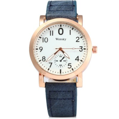 Гаджет   Weesky 1200 Decorative Sub-dial Male Quartz Watch with Leather Band Men