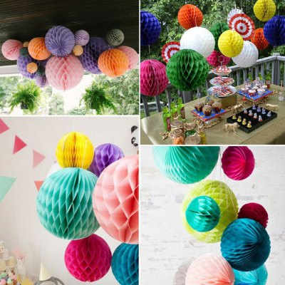 Гаджет   Colorful 12 inch DIY Paper Flower Ball Birthday Supplies