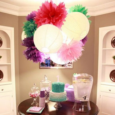 8 inch Colorful DIY Paper Lanterns Decoration