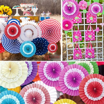 Гаджет   14 inch Three Layer Colorful DIY Paper Fan Birthday Supplies