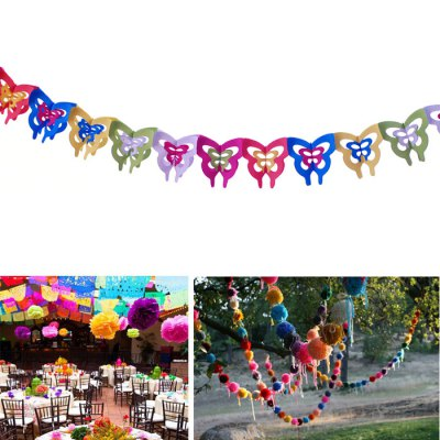 Colorful Butterfly Style DIY Paper Flower StringDecorative Flowers<br>Colorful Butterfly Style DIY Paper Flower String<br><br>Type: Paper Flower String<br>Material: Paper<br>Functions: Decoration for Wedding Party Home etc.<br>Features: DIY, Colorful, Creative<br>For: Sisters, Lover, Brothers, Student, Parents, Friends, Others, Kids, Teachers<br>Usage: Wedding, Performance, Valentine, Party, Gift, Birthday, Others, Stage<br>Product weight: 0.080 kg<br>Package weight : 0.100 kg<br>Product size (L x W x H) : 13.6 x 17.5 x 1 cm / 5.34 x 6.88 x 0.39 inches<br>Package size (L x W x H): 20 x 20 x 3 cm / 7.86 x 7.86 x 1.18 inches<br>Package Contents: 1 x Paper Flower String