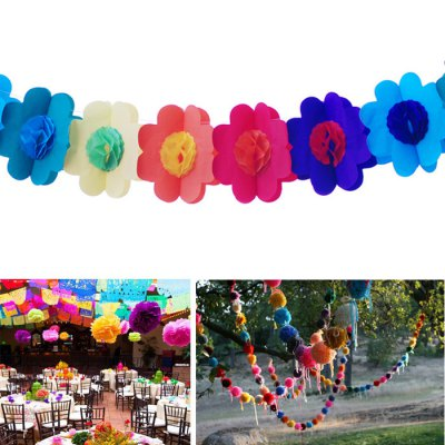 Гаджет   Colorful Smiling Face DIY Paper Flower String Birthday Supplies