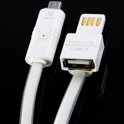 Dual USB Micro USB Sync Cable for Samsung S6 / S6 Edge HTC Nokia etc.