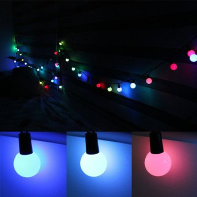 5M Ball Pendant Colorful LED String LightChristmas Supplies<br>5M Ball Pendant Colorful LED String Light<br><br>Type: LED String Light<br>Material: Copper, Electronic Components<br>Functions: Decoration<br>Features: Flashing<br>For: All<br>Usage: Stage, Party, Performance, Christmas, Birthday, New Year, Others, Wedding<br>Product weight: 0.300 kg<br>Package weight : 0.320 kg<br>Product size (L x W x H) : 1.8 x 1.8 x 500 cm / 0.71 x 0.71 x 196.50 inches<br>Package size (L x W x H): 14 x 7 x 9 cm / 5.50 x 2.75 x 3.54 inches<br>Package Contents: 1 x LED String Light