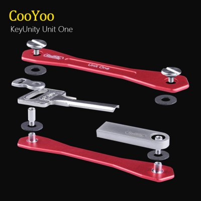 CooYoo Key Unity KeychainEDC Tools<br>CooYoo Key Unity Keychain<br><br>Type: Multitools<br>For: Other Outdoor Activities, Adventure, Home use, Hiking, Daily Use, Camping, Experiment, Motorcycle, Climbing, Car, Cycling<br>Material: T6061 Aluminum<br>Color: Black, Red, Blue, Gray, Silver<br>Product weight   : 0.020 kg<br>Package weight   : 0.060 kg<br>Product size (L x W x H)   : 9.3 x 1.6 x 1.6 cm / 3.65 x 0.63 x 0.63 inches<br>Package size (L x W x H)  : 13 x 6 x 1.5 cm / 5.11 x 2.36 x 0.59 inches<br>Package contents: 1 x CooYoo Key Unity Keychain, 2 x Increased Screw, 1 x Eight-shaped Hang Ring, 16 x Gasket