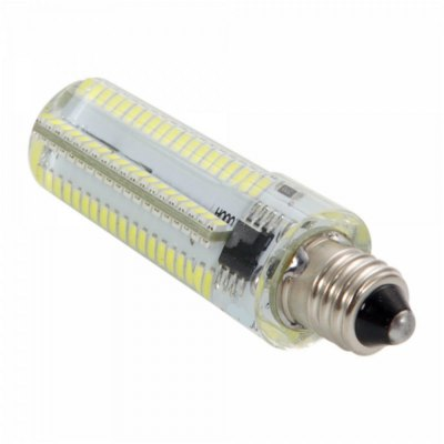 E11 Dimming LED Corn BulbLED Light Bulbs<br>E11 Dimming LED Corn Bulb<br><br>Base Type: E11<br>Type: Corn Bulbs<br>Output Power: 10W<br>Emitter Types: SMD 3014<br>Total Emitters: 152<br>Theoretical Lumen(s): 1200Lm<br>Actual Lumen(s): 1050Lm<br>CCT/Wavelength: 6000-6500K, 2800-3200K<br>Voltage (V): AC 220<br>Lifespan: 30000 hrs<br>Features: Long Life Expectancy, Low Power Consumption, Dimmable<br>Function: Home Lighting, Commercial Lighting, Studio and Exhibition Lighting<br>Available Light Color: White, Warm White<br>Sheathing Material: Plastic, Silicone<br>Product Weight: 0.014 kg<br>Package Weight: 0.065 kg<br>Product Size (L x W x H): 6.2 x 1.5 x 1.5 cm / 2.44 x 0.59 x 0.59 inches<br>Package Size (L x W x H): 7.8 x 2.8 x 2.8 cm / 3.07 x 1.10 x 1.10 inches<br>Package Contents: 1 x E11 LED Corn Light