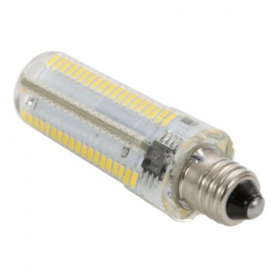 E11 Dimmable LED Corn BulbLED Light Bulbs<br>E11 Dimmable LED Corn Bulb<br><br>Base Type: E11<br>Type: Corn Bulbs<br>Output Power: 10W<br>Emitter Types: SMD 3014<br>Total Emitters: 152<br>Theoretical Lumen(s): 1200Lm<br>Actual Lumen(s): 1050Lm<br>CCT/Wavelength: 6000-6500K, 2800-3200K<br>Voltage (V): AC 110<br>Lifespan: 30000 hrs<br>Features: Long Life Expectancy, Low Power Consumption, Dimmable<br>Function: Studio and Exhibition Lighting, Commercial Lighting, Home Lighting<br>Available Light Color: White, Warm White<br>Sheathing Material: Silicone, Plastic<br>Product Weight: 0.014 kg<br>Package Weight: 0.065 kg<br>Product Size (L x W x H): 6.2 x 1.5 x 1.5 cm / 2.44 x 0.59 x 0.59 inches<br>Package Size (L x W x H): 7.8 x 2.8 x 2.8 cm / 3.07 x 1.10 x 1.10 inches<br>Package Contents: 1 x E11 LED Corn Light
