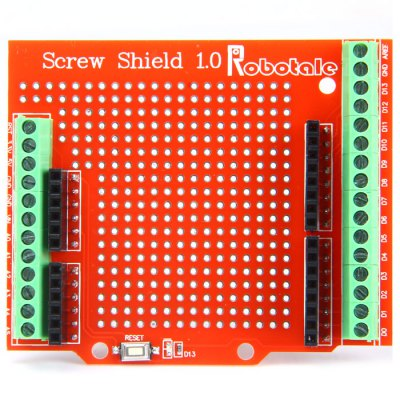 Proto Screw Shield 1.0 Assembled Prototype Expansion Board with Terminal IO for Arduino