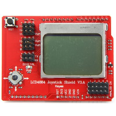 LCD 4884 Joystick Shield V3 Module for Arduino Single Chip Microcomputer
