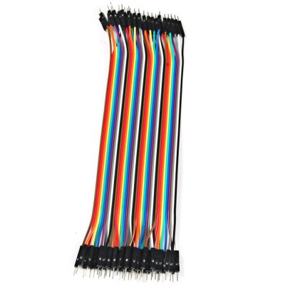 40PCS DuPont Male to Male Breadboard Jumper Wire