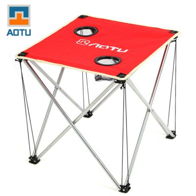 AOTU Thickened Folding Desk with Oxford Fabric for Outdoor Barbecue and Camping
