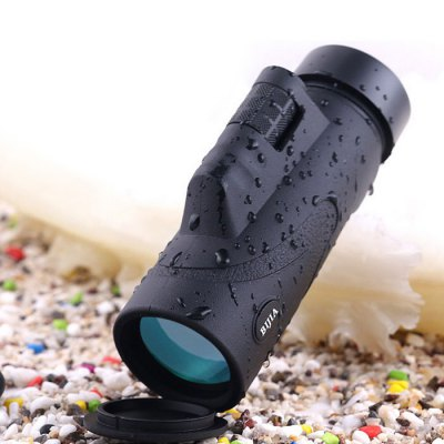 BIJIA Roof BAK4 Prism 10 x 42 Monocular - 305FT / 1000YDSBinoculars and Telescopes<br>BIJIA Roof BAK4 Prism 10 x 42 Monocular - 305FT / 1000YDS<br><br>Brand: BIJIA<br>Type: Monoculars<br>For: Boating/Yachting, Travel, Hunting, Bird watching, Theater, Outdoor activities, Beach, Horse racing<br>Color: Black<br>Body Coated with Rubber: Yes<br>Amplification Factor: 10X<br>Objective Lens (mm) : 42mm<br>Field of view: 305FT / 1000YDS<br>Field Angle(degree): 8.2 degrees<br>Close Focus Distance: 5m<br>Exit pupil distance: 20mm<br>Coating Film: FMC green film<br>Features: Waterproof, Anti-slip<br>Product weight   : 0.312 kg<br>Package weight   : 0.400 kg<br>Product size (L x W x H)   : 15.0 x 5.0 x 6.0 cm / 5.90 x 1.97 x 2.36 inches<br>Package size (L x W x H)  : 16.2 x 8.7 x 7.5 cm / 6.37 x 3.42 x 2.95 inches<br>Package Contents: 1 x Monocular, 1 x Carrying Bag, 1 x Lens Cloth