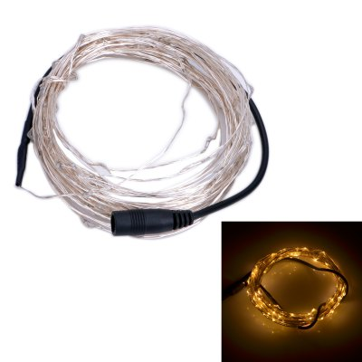 Xmas 10m LED String LightLED Strips<br>Xmas 10m LED String Light<br><br>Type: LED String<br>Chip Brand: Epistar<br>Connector Type: DC Plug<br>Light Color: Pink, White, Green, Blue, Warm White, Purple, Red, Yellow<br>Voltage (V): DC12<br>Output Power(W): 6W<br>Actual Lumen(s): 500Lm<br>Features: Waterproof, IP-67<br>Length (m): 10m<br>LED Type: SMD-0603<br>Number of LEDs: 100<br>Product weight: 0.038 kg<br>Package weight: 0.095 kg<br>Product size (L x W x H): 1000 x 0.5 x 0.3 cm / 393.00 x 0.20 x 0.12 inches<br>Package size (L x W x H): 21 x 12 x 2 cm / 8.25 x 4.72 x 0.79 inches<br>Package Contents: 1 x LED String Light