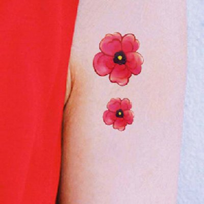 Flower Pattern Waterproof Tattoo Sticker For Women