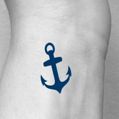 Anchor and Compass Pattern Waterproof Tattoo Sticker For Women