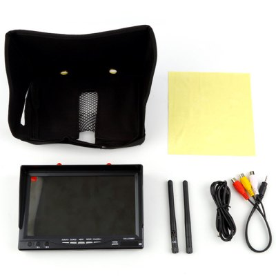 RX - LCD5802 FPV Monitor 5.8G 7 inch Screen High Light HD Built-in BatteryFPV System<br>RX - LCD5802 FPV Monitor 5.8G 7 inch Screen High Light HD Built-in Battery<br><br>Type: FPV   Monitor<br>Package weight: 0.9 kg<br>Package size (L x W x H): 19 x 13 x 6 cm / 7.47 x 5.11 x 2.36 inches<br>Package Contents : 1 x Monitor, 1 x Battery, 2 x 5.8G Antenna, 2 x AV Cable, 1 x Charging Cable