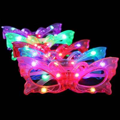 Гаджет   Butterfly Style Flashing LED Glasses Birthday Supplies