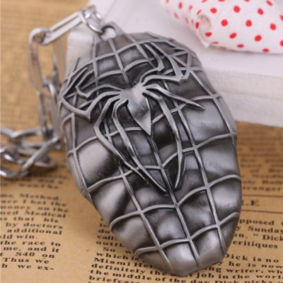 Trendy Spider Man Mask PendantNecklaces &amp; Pendants<br>Trendy Spider Man Mask Pendant<br><br>Pendant Type: Circle<br>Gender: For Unisex<br>Style: Trendy<br>Pattern: Others<br>Length: 6CM<br>Width: 4CM<br>Weight: 0.080KG<br>Package Contents: 1 x Pendant