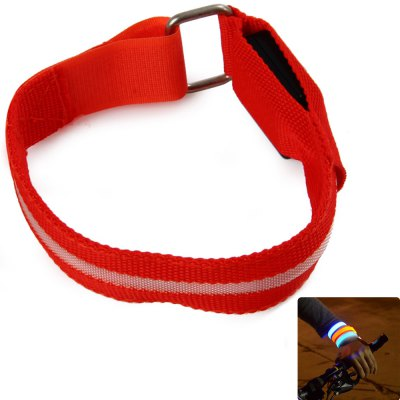 LED Nylon Safety Armband Red Light