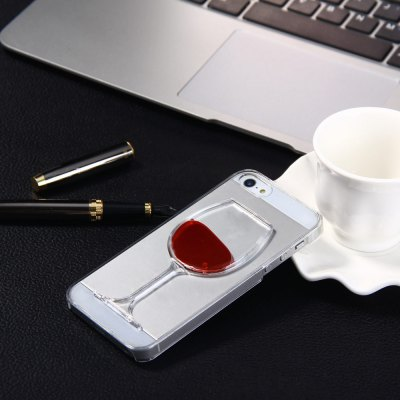 3D Liquid Flow Red Wine Glass Cover Case for iPhone 5 5S SE