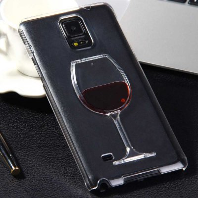 3D Liquid Flow Red Wine Glass Cover Case for Samsung Galaxy Note 4