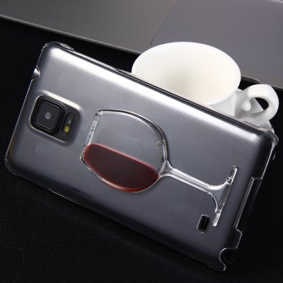 ФОТО 3D Liquid Flow Red Wine Glass Cover Case for Samsung Galaxy Note 4