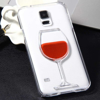 3D Liquid Flow Red Wine Glass Cover Case for Samsung Galaxy S5