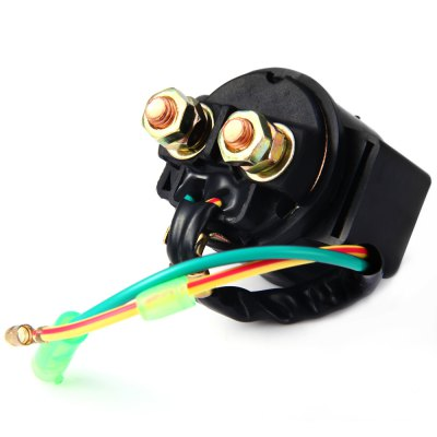 Starter Relay Solenoid for Honda TRX250 Fourtrax ReconOther  Motorcycle Accessories<br>Starter Relay Solenoid for Honda TRX250 Fourtrax Recon<br><br>Functions: Improve driving safety<br>Material  : Metal<br>Color  : Black<br>Product weight   : 0.115 kg<br>Package weight   : 0.14 kg<br>Product size (L x W x H)  : 5 x 4.8 x 3.6 cm / 1.97 x 1.89 x 1.41 inches<br>Package size (L x W x H)  : 6.8 x 5 x 5 cm / 2.67 x 1.97 x 1.97 inches<br>Package contents: 1 x Starter Relay Solenoid for Honda TRX250