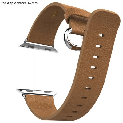 Hoco Genuine Leather Watchband Strap Pin Buckle Band for Apple Watch 42mm
