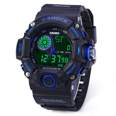 Skmei 1029 Double Movement LED Watch