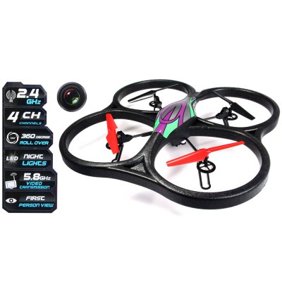 WLtoys V666 5.8G FPV 6 Axis 2.4G RC Quadcopter with HD Camera Monitor RTF - US Plug