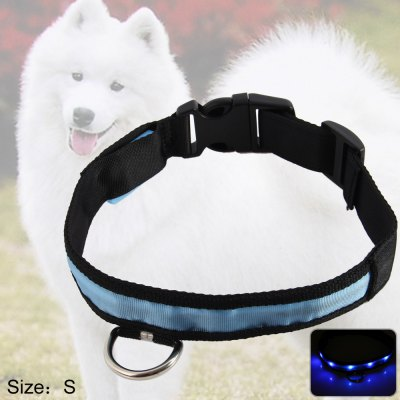 LED Light Point Pet Collar Blue Light
