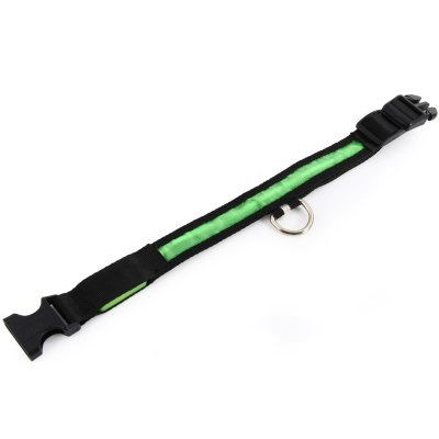 LED Light Point Pet Collar Green LightDog Collars &amp; Leads<br>LED Light Point Pet Collar Green Light<br><br>For: Cats, Dogs<br>Type: Collars<br>Functions: LED Lights<br>Size: S, XL, L, M<br>Color: Green, Yellow, White, Red, Blue<br>Package weight   : 0.070 kg<br>Package size (L x W x H)  : 33.0 x 5.0 x 2.5 cm / 12.97 x 1.97 x 0.98 inches<br>Package Contents: 1 x 2.5cm Nylon LED Light Up Safety Pet Circular Pendant Collar Neck Loop Necklace Light Point Design with Plug Button Pet Accessories Green Light