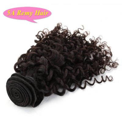 Fluffy Curly 5A Remy Hair Indian Human Hair Weft