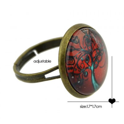 Characteristic Faux Gemstone Tree Round Ring For WomenRings<br>Characteristic Faux Gemstone Tree Round Ring For Women<br><br>Gender: For Women<br>Material: Semi-Precious Stone<br>Metal Type: Others<br>Style: Trendy<br>Shape/Pattern: Plant<br>Diameter: 1.7CM<br>Weight: 0.04KG<br>Package Contents: 1 x Ring