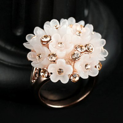 Delicate Flower Rhinestone Ring For WomenRings<br>Delicate Flower Rhinestone Ring For Women<br><br>Gender: For Women<br>Material: Rhinestone<br>Metal Type: Alloy<br>Style: Punk<br>Shape/Pattern: Floral<br>Weight: 0.040KG<br>Package Contents: 1 x Ring