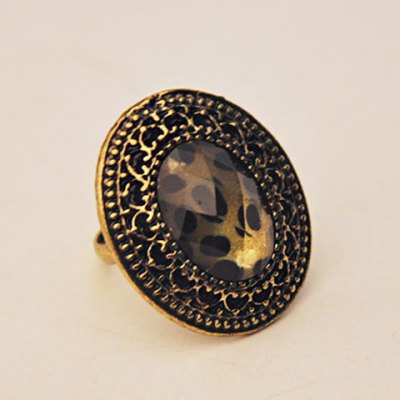 Classic Leopard Pattern Ellipse Ring For WomenRings<br>Classic Leopard Pattern Ellipse Ring For Women<br><br>Gender: For Women<br>Metal Type: Alloy<br>Style: Trendy<br>Shape/Pattern: Leopard<br>Metal Color: Antique Gold Plated<br>Weight: 0.050KG<br>Package Contents: 1 x Ring