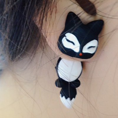 Pair of Sweet Cute Fox Shape Design Earrings For Women