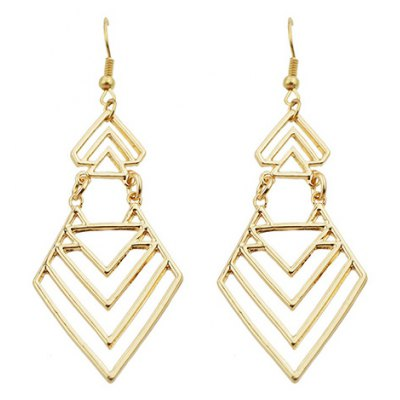 Pair of Fashion Trendy Geometric Hollow Earrings For Women