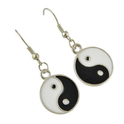 Pair of  Chic Tai Ji Color Block Drop Earrings For WomenEarrings<br>Pair of  Chic Tai Ji Color Block Drop Earrings For Women<br><br>Earring Type: Drop Earrings<br>Gender: For Women<br>Metal Type: Alloy<br>Style: Trendy<br>Shape/Pattern: Round<br>Length: 4.2CM?Length?1.8CM?Width?<br>Weight: 0.030KG<br>Package Contents: 1 x Earrings?Pair?