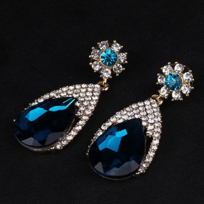 Pair of Delicate Faux Gemstone Drop Earrings For WomenEarrings<br>Pair of Delicate Faux Gemstone Drop Earrings For Women<br><br>Earring Type: Drop Earrings<br>Gender: For Women<br>Material: Semi-Precious Stone<br>Style: Trendy<br>Shape/Pattern: Water Drop<br>Length: 5CM<br>Weight: 0.05KG<br>Package Contents: 1 x Earring(Pair)