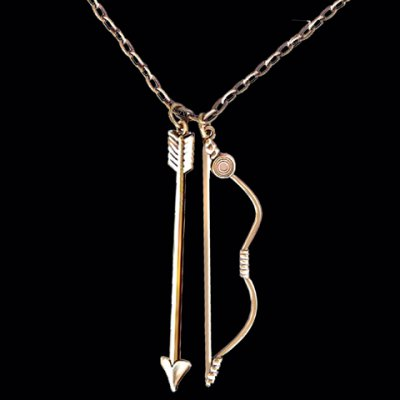 Stylish Avengers Hawkeye Bow and Arrow Necklace