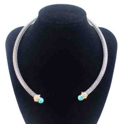 Vintage Turquoise Cuff Choker Necklace