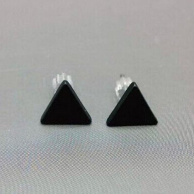 Pair of Simple Women's Triangle Earrings