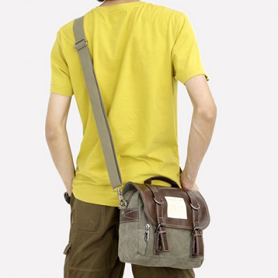 Trendy Buckle and Splicing Design Mens BriefcaseMens Bags<br>Trendy Buckle and Splicing Design Mens Briefcase<br><br>Gender: For Men<br>Style: Fashion<br>Closure Type: Zipper &amp; Hasp<br>Pattern Type: Patchwork<br>Height: 24CM<br>Length: 27CM<br>Width: 10CM<br>Main Material: Canvas<br>Weight: 0.390KG<br>Package Contents: 1 x Briefcase